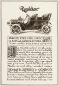 A Rambler Surrey Type One 1905 automobile is pictured in a magazine advertisement from 1905 The car is priced at $1350
