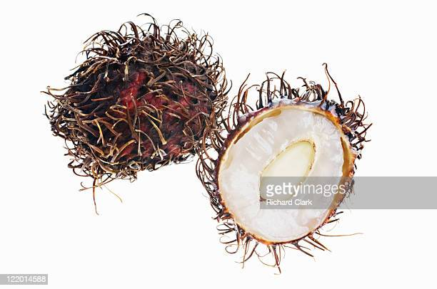 Rambutan against white background