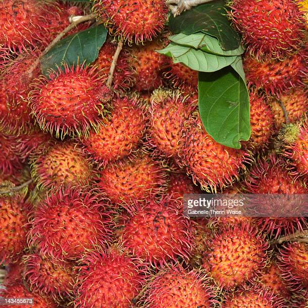 Rambutan fruits in the market of Siem Reap