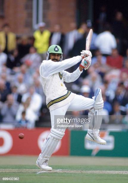 Rameez Raja batting for Pakistan during the 3rd Test match between England and Pakistan at Old Trafford Manchester 2nd July 1992