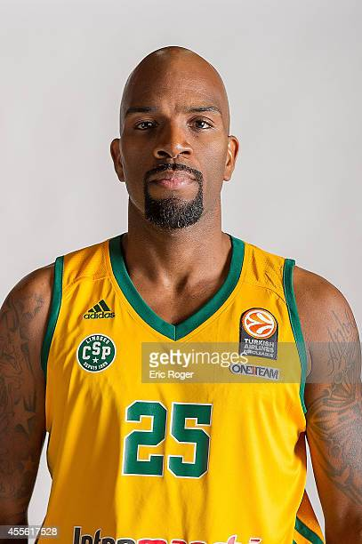Ramel Curry #25 of Limoges CSP poses during the Limoges CSP 2014/2015 Turkish Airlines Euroleague Basketball Media Day at Beaublanc on September 10...