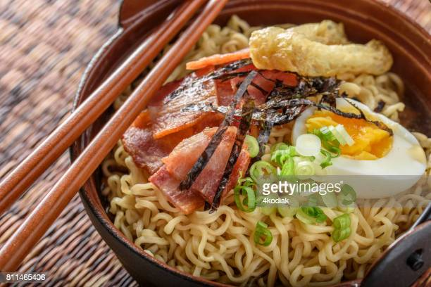 Ramen with Bacon and Boiled Egg