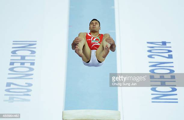 Ramezanpour Mohammad of Iran competes in the Men's Induvidual AllAround Final during the 2014 Asian Games at Namdong Gymnasium on September 23 2014...