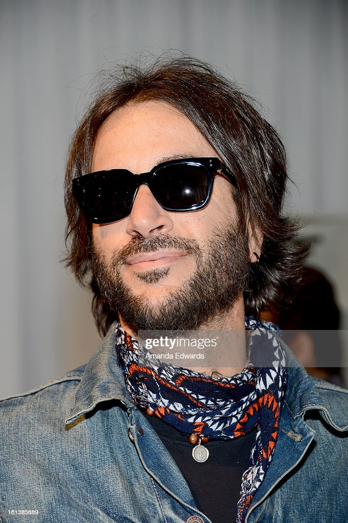 <a gi-track='captionPersonalityLinkClicked' href=/galleries/search?phrase=Rami+Jaffee&family=editorial&specificpeople=234780 ng-click='$event.stopPropagation()'>Rami Jaffee</a> in Marc Jacobs MJ407S poses with SOLSTICE Sunglasses and Safilo USA during the 55th Annual GRAMMY Awards at the STAPLES Center on February 9, 2013 in Los Angeles, California.