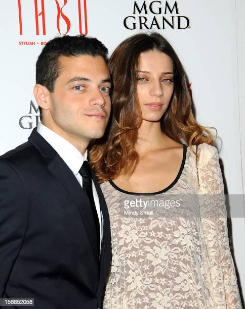 Rami Malek and Angela Sarafyan host an evening at Tabu Ultra Lounge at MGM Grand on November 17 2012 in Las Vegas Nevada