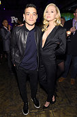Rami Malek and Portia Doubleday attend the Entertainment Weekly People Upfronts party 2016 at Cedar Lake on May 16 2016 in New York City