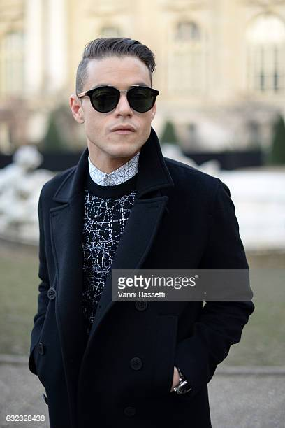 Rami Malek attends the Dior Homme Menswear Fall/Winter 20172018 show as part of Paris Fashion Week on January 21 2017 in Paris France