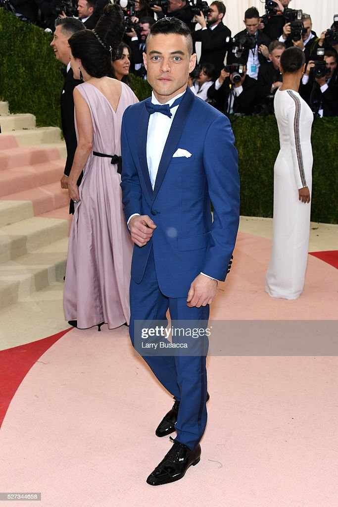 Rami Malek attends the 'Manus x Machina: Fashion In An Age Of Technology' Costume Institute Gala at Metropolitan Museum of Art on May 2, 2016 in New York City.