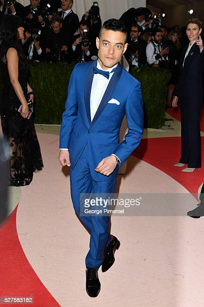 Rami Malek attends the 'Manus x Machina Fashion in an Age of Technology' Costume Institute Gala at the Metropolitan Museum of Art on May 2 2016 in...