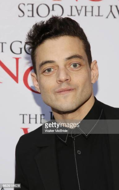 Rami Malek attends 'The Play That Goes Wrong' Broadway Opening Night at the Lyceum Theatre on April 2 2017 in New York City