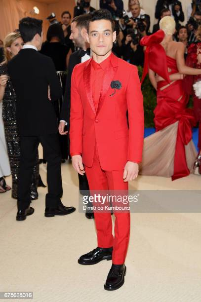 Rami Malek attends the 'Rei Kawakubo/Comme des Garcons Art Of The InBetween' Costume Institute Gala at Metropolitan Museum of Art on May 1 2017 in...