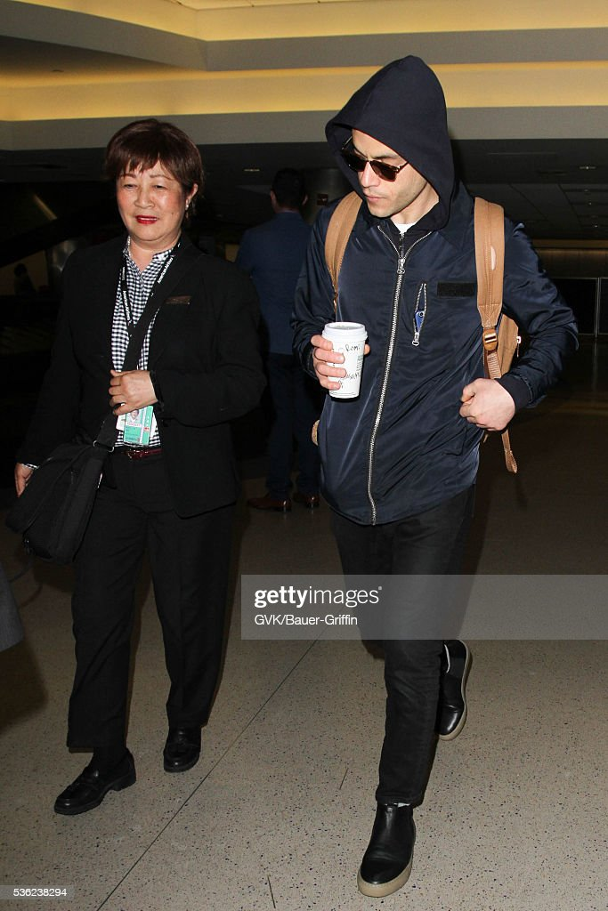 <a gi-track='captionPersonalityLinkClicked' href=/galleries/search?phrase=Rami+Malek&family=editorial&specificpeople=2194697 ng-click='$event.stopPropagation()'>Rami Malek</a> is seen at LAX on May 31, 2016 in Los Angeles, California.