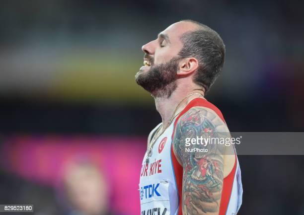 RamilGuliyev Turkey winning mens 200 meter final in London at the 2017 IAAF World Championships athletics