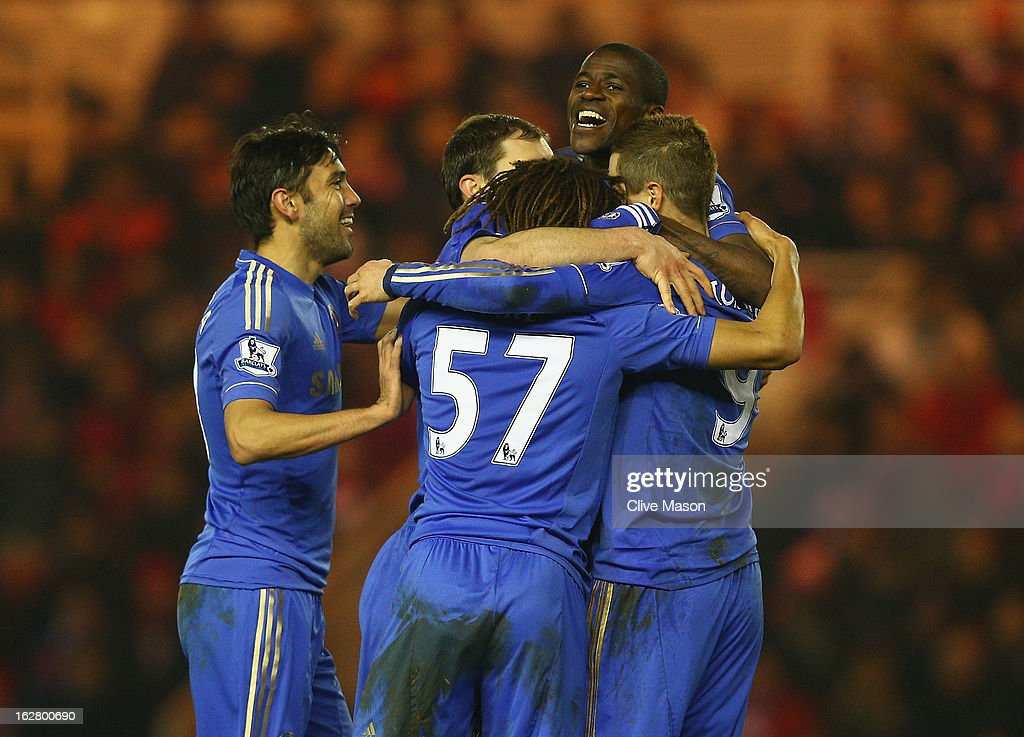 Ramires of Chelsea celebrates his goal during the FA Cup with Budweiser Fifth Round match between Middlesbrough and Chelsea at Riverside Stadium on February 27, 2013 in Middlesbrough, England.