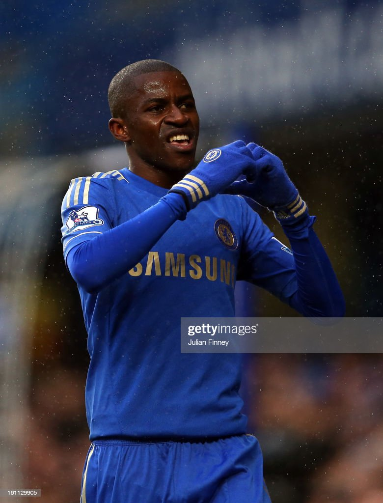Ramires of Chelsea celebrates scoring the first goal during the Barclays Premier League match between Chelsea and Wigan Athletic at Stamford Bridge on February 9, 2013 in London, England.