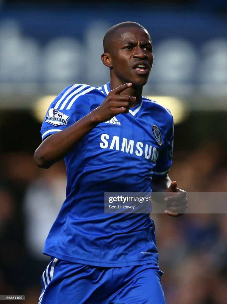 Ramires of Chelsea celebrates scoring their second goal during the Barclays Premier League match between Chelsea and Crystal Palace at Stamford Bridge on December 14, 2013 in London, England.
