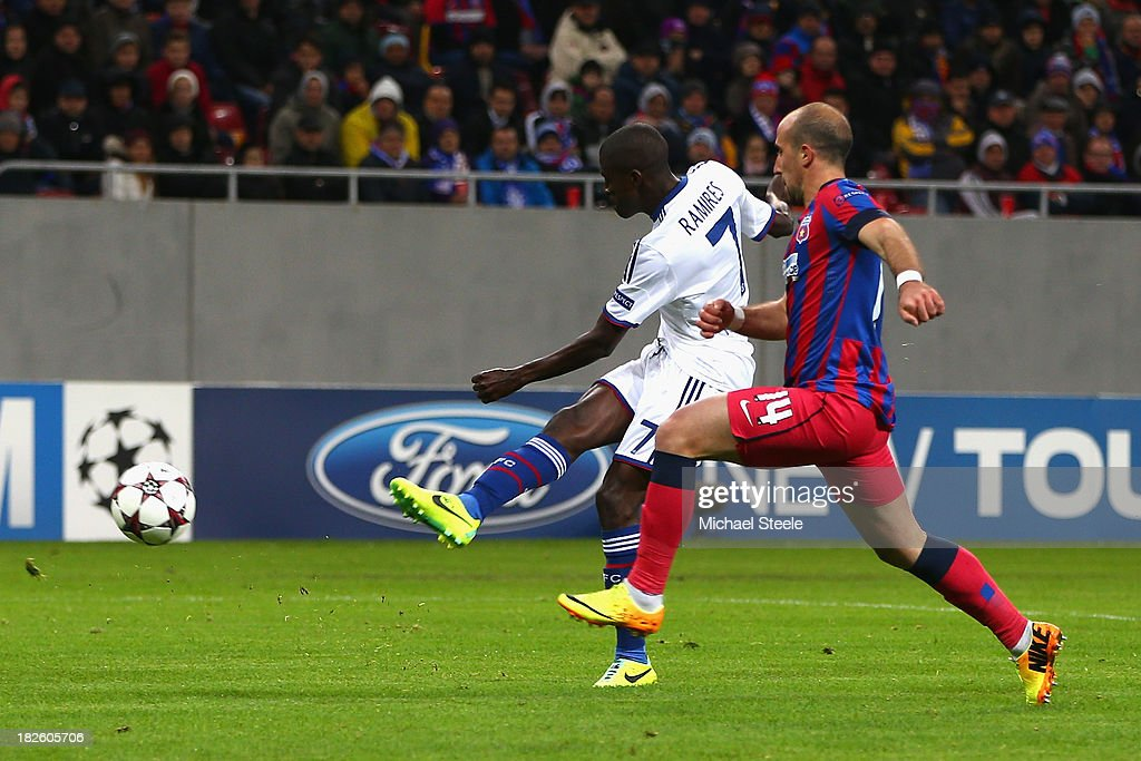 Ramires of Chelsea scores his sides third goal during the UEFA Champions League Group E Match between FC Steaua Bucuresti and Chelsea at the National Arena Stadium on October 1, 2013 in Bucharest, Romania.