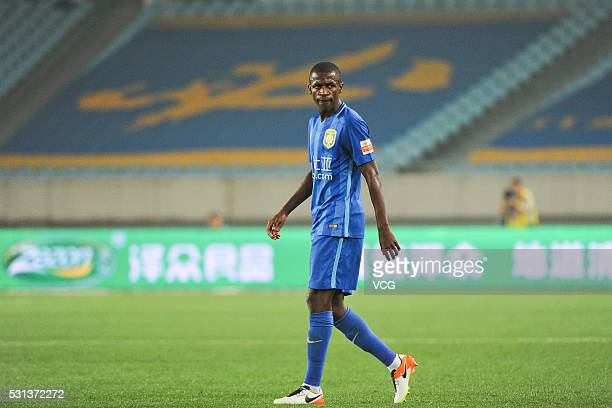 Ramires of Jiangsu Suning in action during the Chinese Football Association Super League match between Jiangsu Suning and Shijiazhuang Ever Bright at...