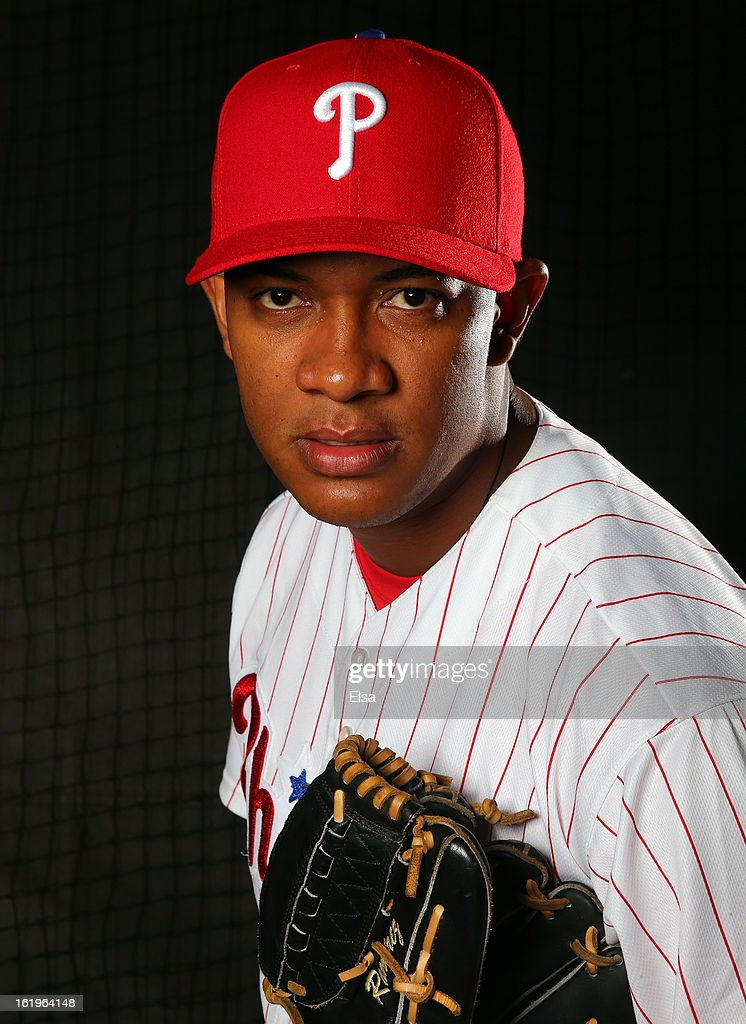 J.C. Ramirez #66 of the Philadelphia Phillies poses for a portrait on February 18, 2013 at Bright House Field in Clearwater, Florida.