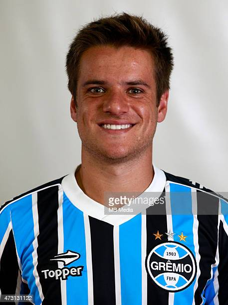 Ramiro Benetti of Gremio FootBall Porto Alegrense poses during a portrait session on August 14 2014 in Porto AlegreBrazil