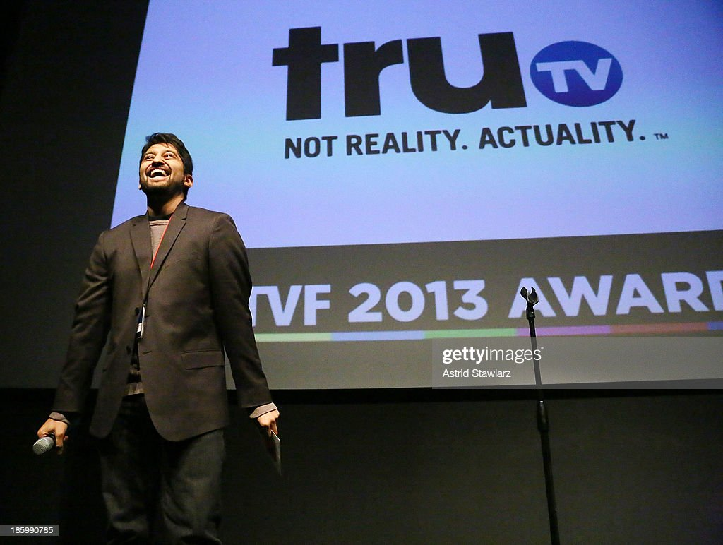 Ramiro Castro Jr. accepts truTV Development Deal award during the 9th Annual New York Television festival at SVA Theater on October 26, 2013 in New York City.
