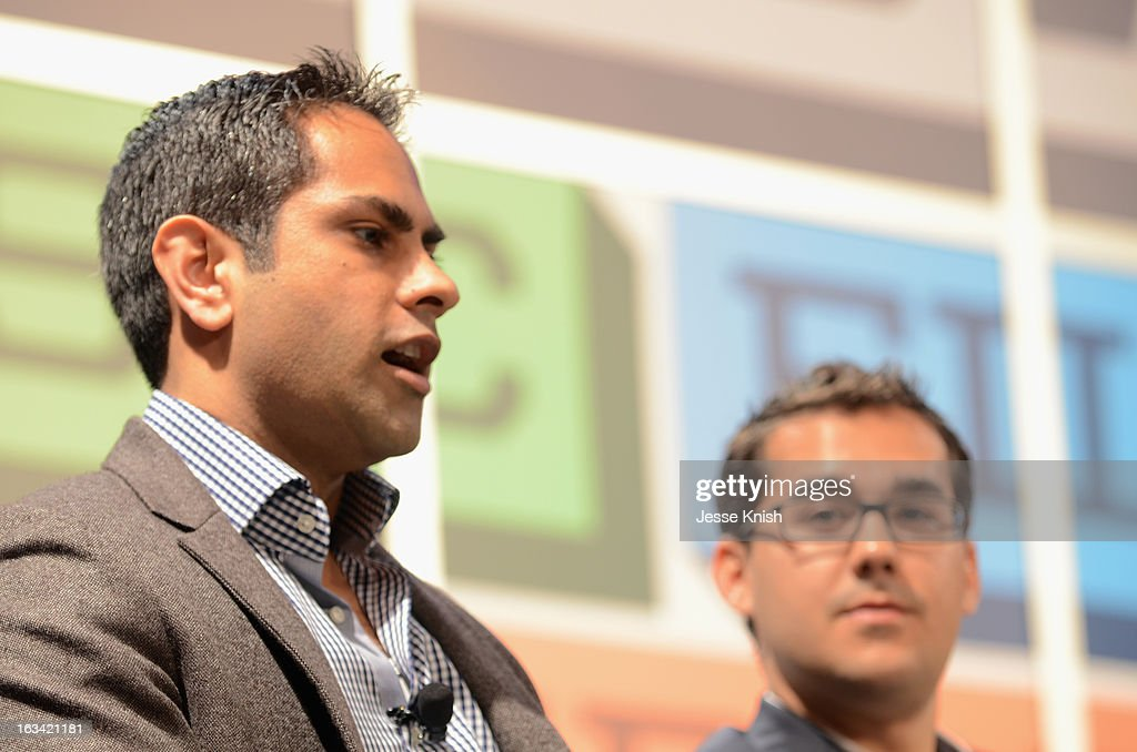 Ramit Sethi (L) speaks onstage at the Why Tiny Habits Give Big Results panel during the 2013 SXSW Music, Film + Interactive Festival at Austin Convention Center on March 9, 2013 in Austin, Texas.