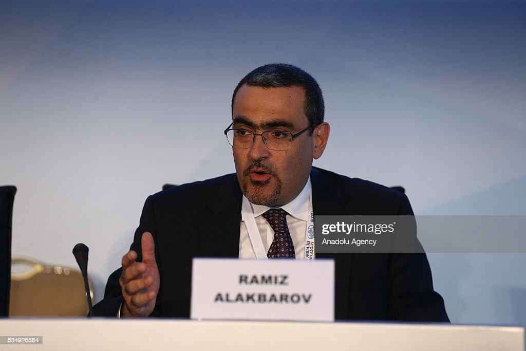 Ramiz Alakbarov, Representative of the United Nations Fund for Population Activities (UNFPA), takes part in the Round-table 3 under the theme ''Human and social development; and good governance at all levels'' within the Midterm Review of the Istanbul Programme of Action at Titanic Hotel in Antalya, Turkey on May 28, 2016. The Midterm Review conference for the Istanbul Programme of Action for the Least Developed Countries takes place in Antalya, Turkey from 27-29 May 2016.