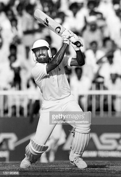 Ramiz Raja batting for Pakistan circa 1987