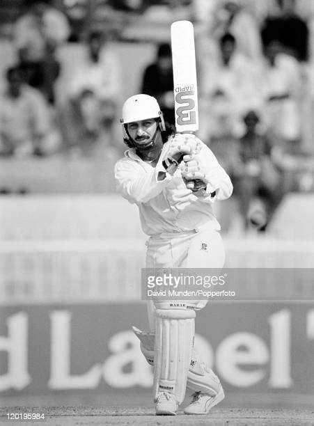 Ramiz Raja batting for Pakistan circa 1989