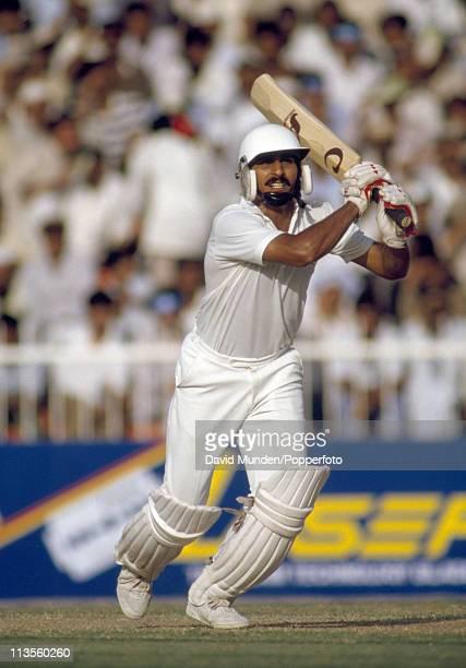 Ramiz Raja batting for Pakistan circa 1990