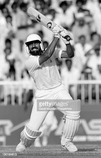 Ramiz Raja batting for Pakistan during their Champions Trophy match against Sri Lanka in Sharjah United Arab Emirates 2nd December 1986 Pakistan won...
