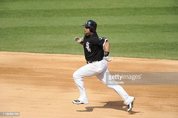 Ramon Castro of the Chicago White Sox runs the bases during the game against the Minnesota Twins on July 9 2011 at US Cellular Field in Chicago...