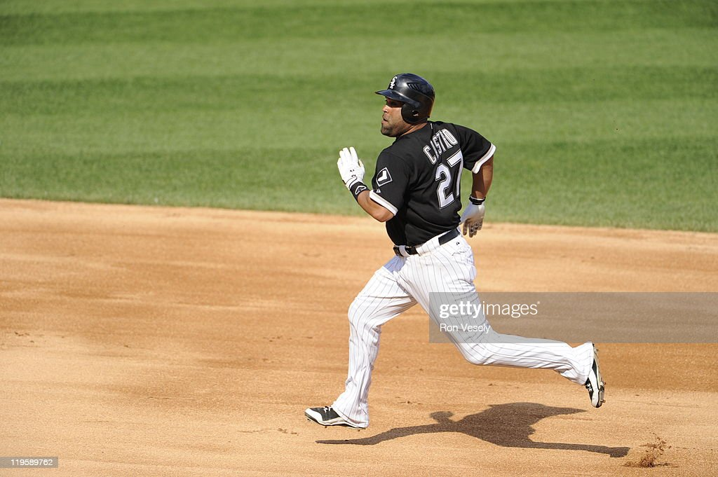 Ramon Castro #27 of the Chicago White Sox runs the bases during the game against the Minnesota Twins on July 9, 2011 at U.S. Cellular Field in Chicago, Illinois. The White Sox defeated the Twins 4-3.
