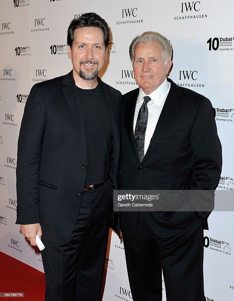 Ramon Estevez and <a gi-track='captionPersonalityLinkClicked' href=/galleries/search?phrase=Martin+Sheen&family=editorial&specificpeople=203224 ng-click='$event.stopPropagation()'>Martin Sheen</a> attend 'For The Love of Cinema - IWC Filmmakers Award' during day two of the 10th Annual Dubai International Film Festival held at the One and Only Mirage Hotel on December 7, 2013 in Dubai, United Arab Emirates.