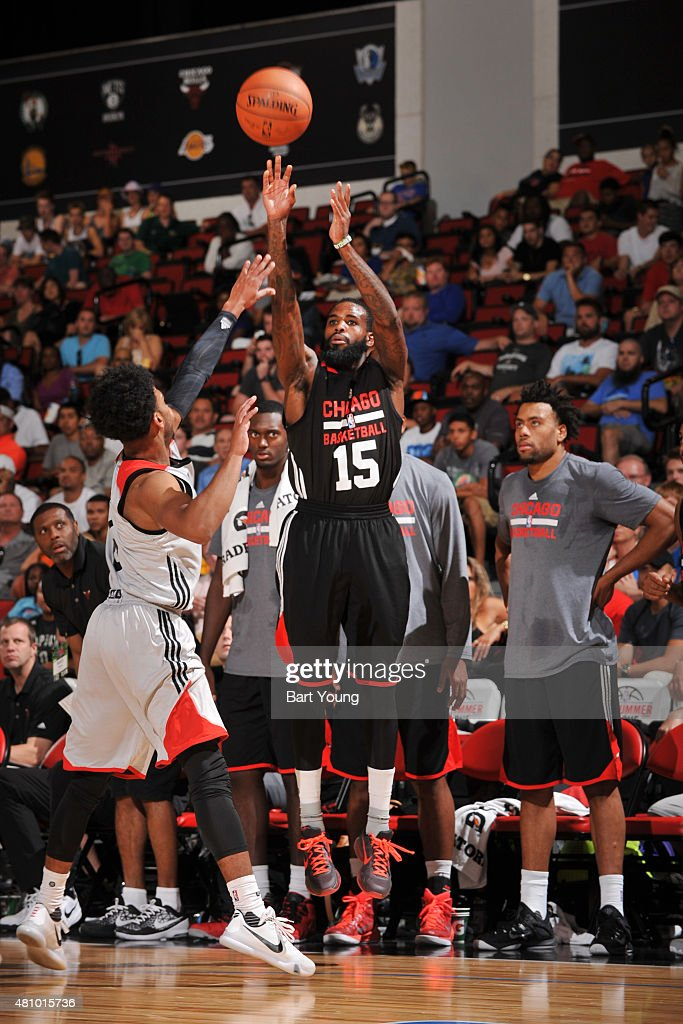 <a gi-track='captionPersonalityLinkClicked' href=/galleries/search?phrase=Ramon+Galloway&family=editorial&specificpeople=6835811 ng-click='$event.stopPropagation()'>Ramon Galloway</a> #15 of the Chicago Bulls shoots against the Toronto Raptors during the game on July 16, 2015 at Cox Pavilion, Las Vegas, Nevada.