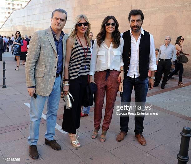 Ramon Garcia Patricia Cerezo Nuria Roca and Juan del Val attend San Isidro Bullfight 2012 at Plaza de Toros de Las Ventas on May 23 2012 in Madrid...