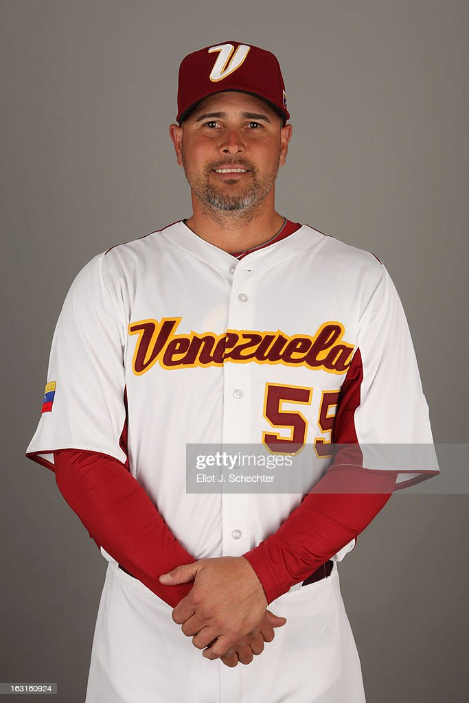 Ramon Hernandez #55 of Team Venezuela poses for a headshot for the 2013 World Baseball Classic at Roger Dean Stadium on Monday, March 4, 2013 in Jupiter, Florida.