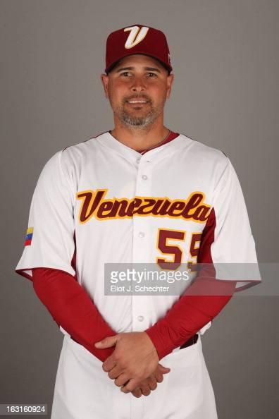 Ramon Hernandez of Team Venezuela poses for a headshot for the 2013 World Baseball Classic at Roger Dean Stadium on Monday March 4 2013 in Jupiter...