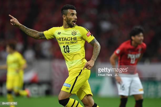 Ramon Lopes of Kashiwa Reysol in action during the JLeague J1 match between Urawa Red Diamonds and Kashiwa Reysol at Saitama Stadium on September 9...
