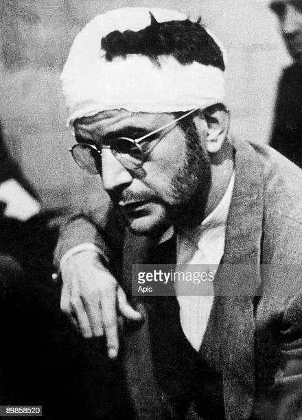Ramon Mercader aka Jacques Mornard murderer of Leon Trotski here during his trial in 1940 in Mexico