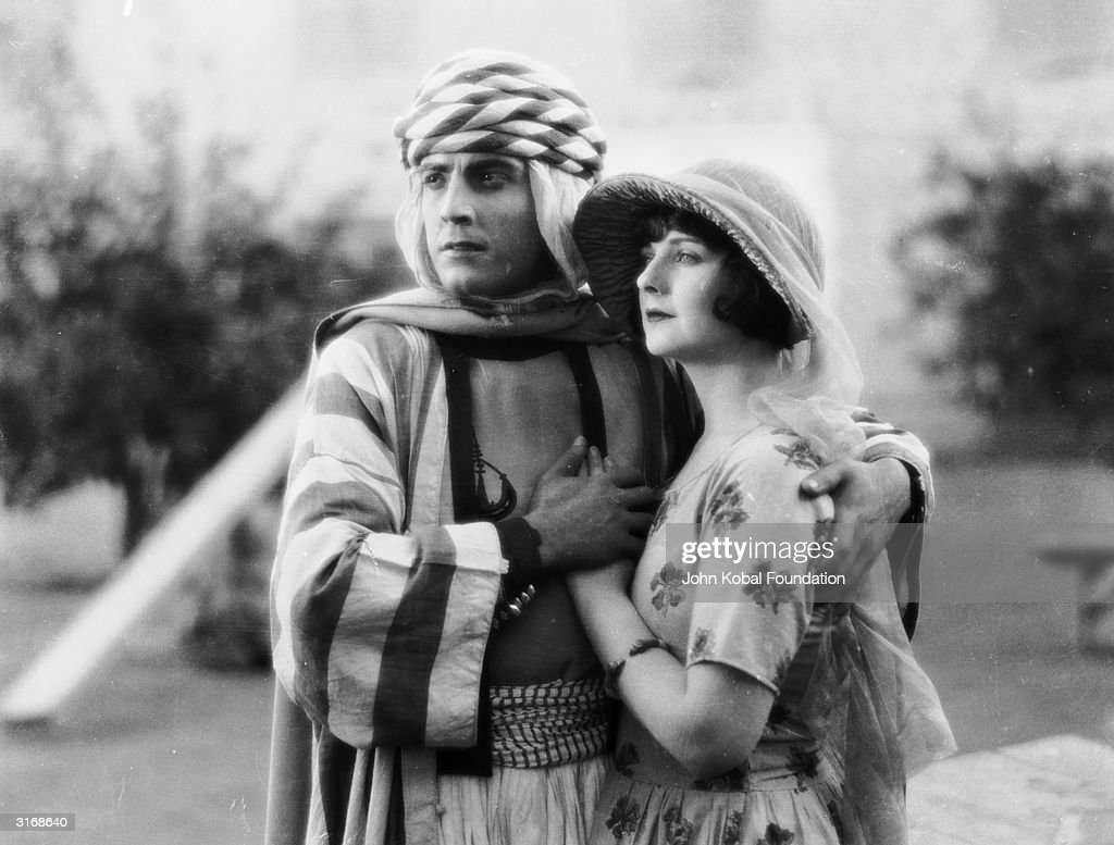 <a gi-track='captionPersonalityLinkClicked' href=/galleries/search?phrase=Ramon+Novarro&family=editorial&specificpeople=213332 ng-click='$event.stopPropagation()'>Ramon Novarro</a> (1899 - 1968) and Alice Terry (1899 - 1987) star in the silent adventure 'The Arab', directed by Rex Ingram.