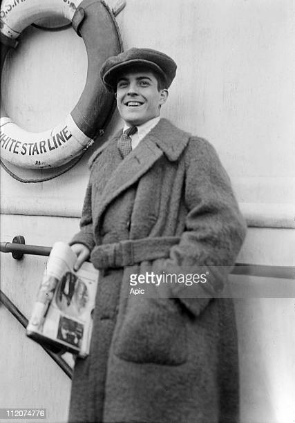 Ramon Novarro mexican actor director producer here aboard the liner Majestic c 1925
