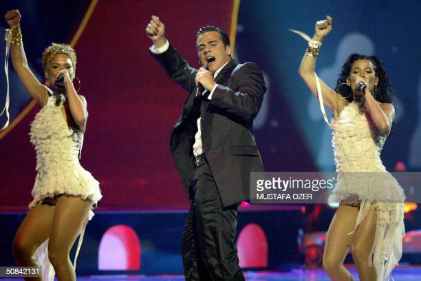 Ramon of Spain performs during the final concert of the 49th Eurovision Song Contest in Istanbul 15 May 2004