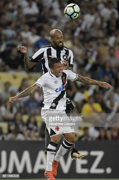 Ramon of Vasco da Gama battles for the ball with Bruno Silva of Botafogo during the match between Vasco da Gama and Botafogo as part of Brasileirao...