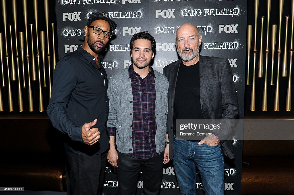 RZA Ramon Rodriguez and Terry O'Quinn attend the 'Gang Related' private screening at 40 / 40 Club on May 15 2014 in New York City