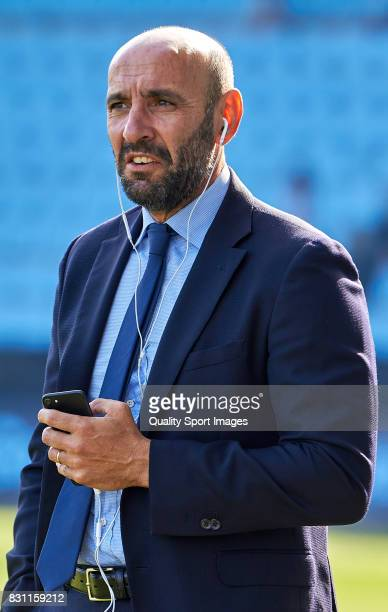 Ramon Rodriguez 'Monchi' the sports general manager of AS Roma prior to the preseason friendly match between Celta de Vigo and AS Roma at Balaidos...