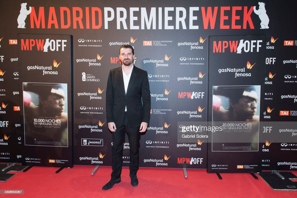 Ramon Salazar attends '10.000 Noches en Ninguna Parte' Madrid Premiere at Callao cinema on November 19, 2013 in Madrid, Spain.