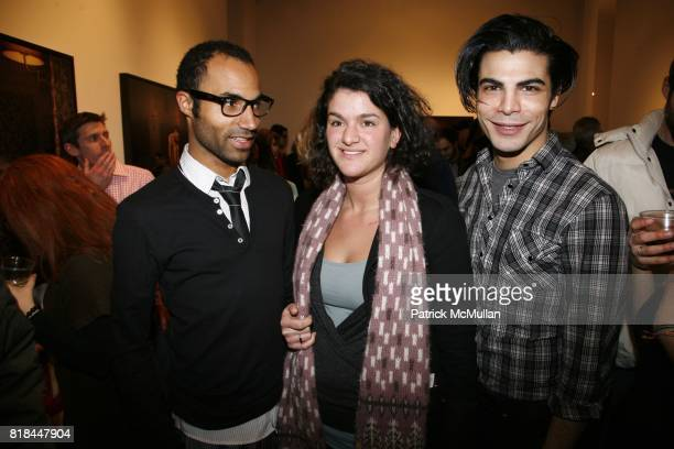 Ramon Schreuder Selma Seddik and Noah Valentyn attend ERWIN OLAF Opening Reception at Hasted Hunt Kraeutler on January 28 2010 in New York