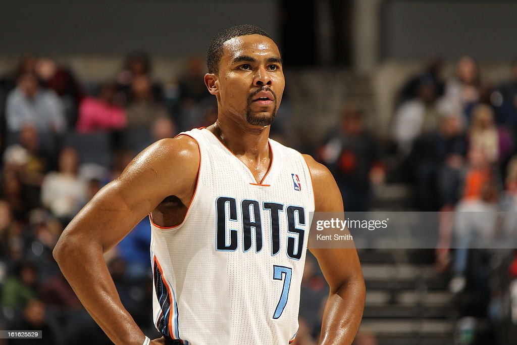 <a gi-track='captionPersonalityLinkClicked' href=/galleries/search?phrase=Ramon+Sessions&family=editorial&specificpeople=805440 ng-click='$event.stopPropagation()'>Ramon Sessions</a> #7 of the Charlotte Bobcats awaits a foul shot against the Sacramento Kings at the Time Warner Cable Arena on January 19, 2013 in Charlotte, North Carolina.