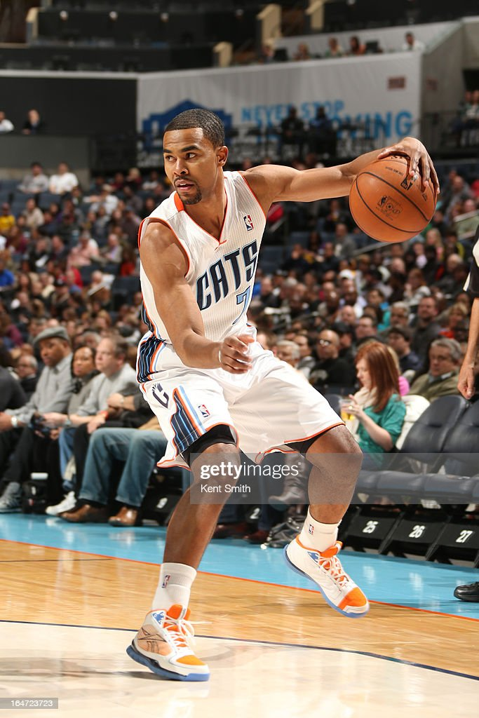 Ramon Sessions #7 of the Charlotte Bobcats looks to drive against the Brooklyn Nets at the Time Warner Cable Arena on March 6, 2013 in Charlotte, North Carolina.
